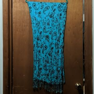 Turquoise lightweight scarf great for spring